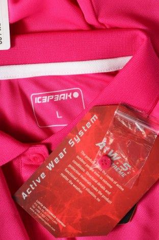 Дамска тениска Icepeak, Размер L, Цвят Розов, Полиестер, Цена 33,00лв.