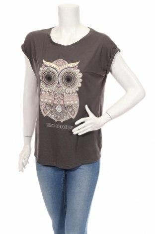 Γυναικείο t-shirt LC Waikiki, Μέγεθος XL, Χρώμα Γκρί, Τιμή 11,34€