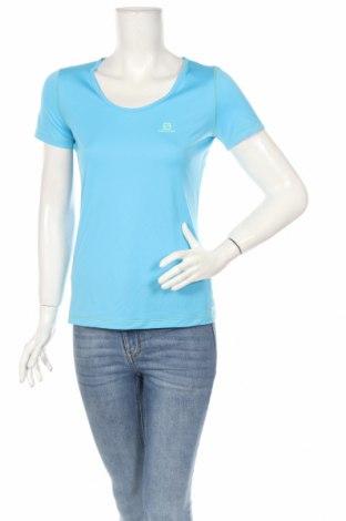 Дамска тениска Salomon, Размер S, Цвят Син, Полиестер, Цена 54,60лв.