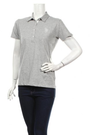 Tricou de femei U.S. Polo Assn., Mărime L, Culoare Gri, 90% bumbac, 5% viscoză, 5% elastan, Preț 234,21 Lei
