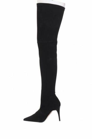Дамски ботуши Elizabeth Stuart, Размер 39, Цвят Черен, Текстил, Цена 54,02лв.