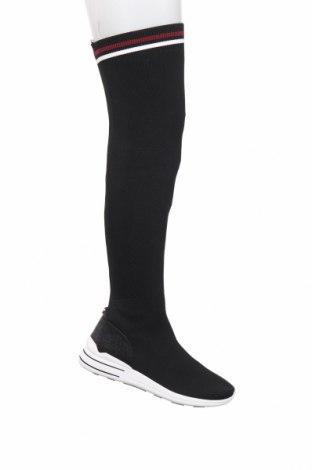Γυναικείες μπότες Tom Tailor, Μέγεθος 40, Χρώμα Μαύρο, Κλωστοϋφαντουργικά προϊόντα, Τιμή 55,73€
