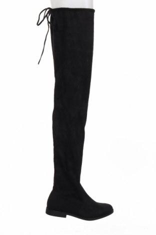 Дамски ботуши Truffle, Размер 41, Цвят Черен, Текстил, Цена 49,64лв.