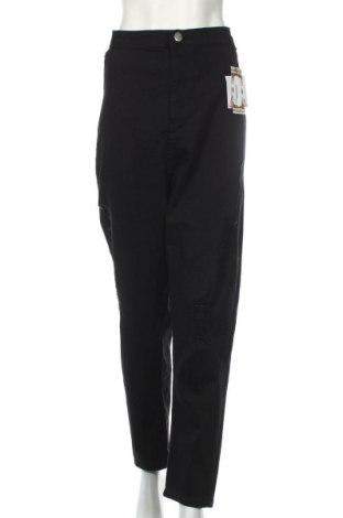 Дамски дънки Boohoo, Размер 3XL, Цвят Черен, 98% памук, 2% еластан, Цена 35,28лв.