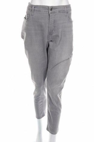 Дамски дънки Levi's, Размер XXL, Цвят Сив, 89% памук, 9% полиестер, 2% еластан, Цена 24,70лв.