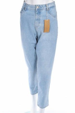 Дамски дънки Reserved, Размер L, Цвят Син, Памук, Цена 40,30лв.