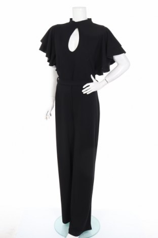 Dámský overal Boohoo, Rozměr XL, Barva Černá, 95% polyester, 5% elastan, Cena  647,00Kč