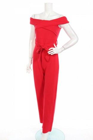 Dámský overal Quiz, Rozměr M, Barva Červená, 96% polyester, 4% elastan, Cena  630,00Kč