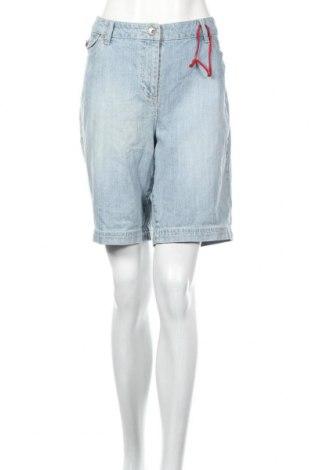 Pantaloni scurți de femei Contrast, Mărime XL, Culoare Albastru, 98% bumbac, 2% elastan, Preț 110,49 Lei