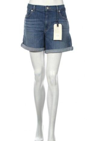 Дамски къс панталон Levi's, Размер XL, Цвят Син, 79% памук, 19% полиестер, 2% еластан, Цена 89,00лв.
