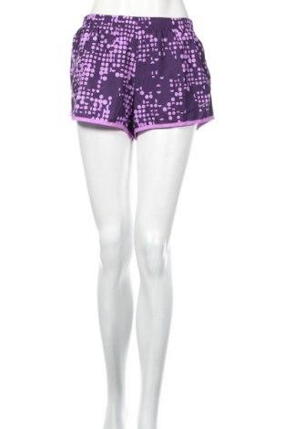 Pantaloni scurți de femei Nike, Mărime L, Culoare Mov, Poliester, Preț 168,97 Lei