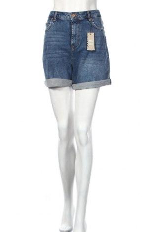 Pantaloni scurți de femei Pieces, Mărime M, Culoare Albastru, 98% bumbac, 2% elastan, Preț 88,37 Lei