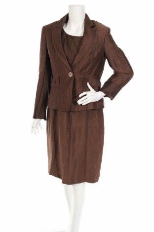 Дамски костюм Gerry Weber, Размер M, Цвят Кафяв, 88% лен, 12% полиамид, Цена 153,40лв.