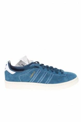Дамски обувки Adidas Originals, Размер 38, Цвят Син, Естествен велур, Цена 114,92лв.