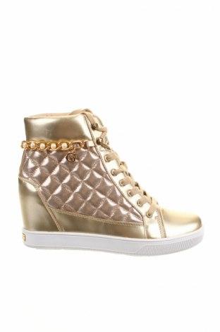 Γυναικεία παπούτσια Guess, Μέγεθος 40, Χρώμα Χρυσαφί, Κλωστοϋφαντουργικά προϊόντα, δερματίνη, Τιμή 56,50€