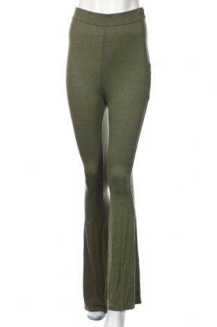 Dámske nohavice Boohoo, Veľkosť S, Farba Zelená, 95% viskóza, 5% elastan, Cena  19,56€