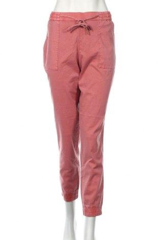 Pantaloni de femei Edc By Esprit, Mărime L, Culoare Roz, 71% bumbac, 27% in, 2% elastan, Preț 168,63 Lei