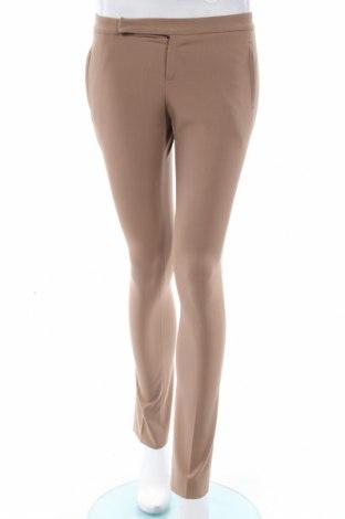 Дамски панталон Laltramoda, Размер S, Цвят Кафяв, 62% полиестер, 31% вискоза, 7% еластан, Цена 10,32лв.
