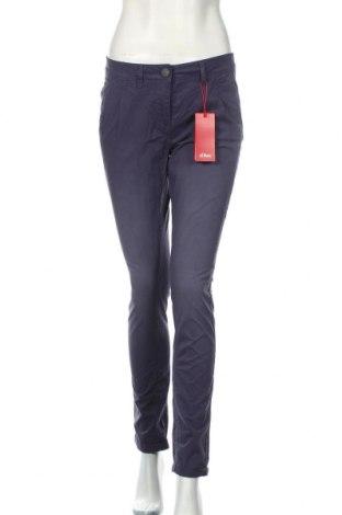 Dámske nohavice S.Oliver, Veľkosť XS, Farba Modrá, Bavlna, Cena  31,92€