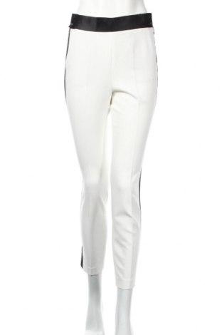 Dámské kalhoty  Zara, Rozměr S, Barva Bílá, 74% polyester, 19% viskóza, 7% elastan, Cena  210,00Kč
