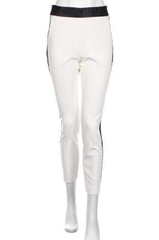 Pantaloni de femei Zara, Mărime S, Culoare Alb, 74% poliester, 19% viscoză, 7% elastan, Preț 38,16 Lei