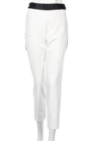 Dámské kalhoty  Zara, Rozměr L, Barva Bílá, 74% polyester, 19% viskóza, 7% elastan, Cena  501,00Kč