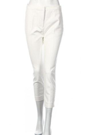 Pantaloni de femei Zara, Mărime L, Culoare Alb, 59% bumbac, 38% poliester, 3% elastan, Preț 109,89 Lei