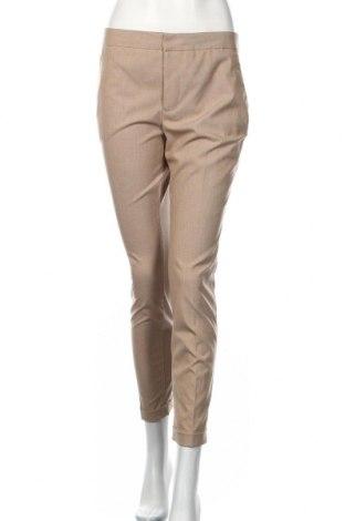 Pantaloni de femei Zara, Mărime M, Culoare Bej, 69% poliester, 29% viscoză, 2% elastan, Preț 106,11 Lei