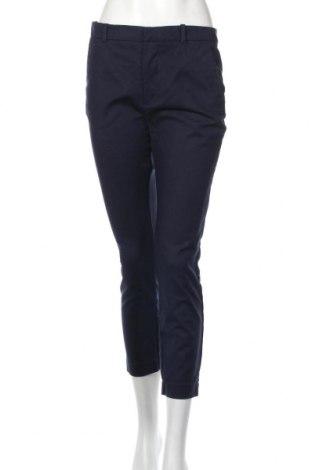 Pantaloni de femei Zara, Mărime L, Culoare Albastru, 97% bumbac, 3% elastan, Preț 96,16 Lei