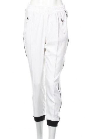 Pantaloni de femei Zara, Mărime M, Culoare Alb, 95% poliester, 5% elastan, Preț 109,89 Lei