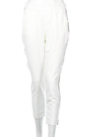 Pantaloni de femei Zara Trafaluc, Mărime M, Culoare Alb, 63% poliester, 32% viscoză, 5% elastan, Preț 102,32 Lei