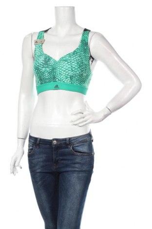 Γυναίκειο αθλητικό τοπ Adidas, Μέγεθος M, Χρώμα Πράσινο, 75% πολυαμίδη, 25% ελαστάνη, Τιμή 35,57€