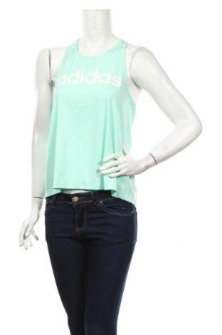 Tricou de damă Adidas, Mărime XS, Culoare Verde, 88% poliester, 12% elastan, Preț 79,58 Lei