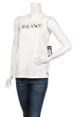 Γυναικείο αμάνικο μπλουζάκι Under Armour, Μέγεθος M, Χρώμα Λευκό, 60% βαμβάκι, 40% πολυεστέρας, Τιμή 21,90€