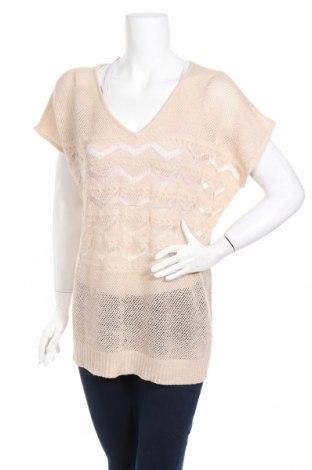 Дамски пуловер Axara, Размер M, Цвят Бежов, 94% акрил, 6% метални нишки, Цена 5,60лв.