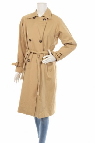 Trench de femei Zara, Mărime S, Culoare Bej, Poliester, Preț 123,34 Lei