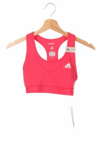Γυναίκειο αθλητικό τοπ Adidas, Μέγεθος XS, Χρώμα Κόκκινο, 89% πολυεστέρας, 11% ελαστάνη, Τιμή 21,90€