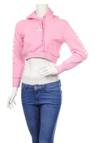 Dámská mikina  Calvin Klein Jeans, Rozměr XS, Barva Růžová, 80% bavlna, 20% polyester, Cena  991,00Kč
