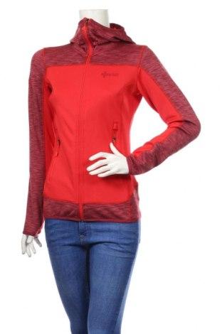 Hanorac de femei Kilpi, Mărime M, Culoare Roșu, 93% poliester, 7% elastan, Preț 79,58 Lei