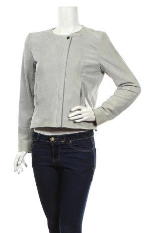 Γυναικείο δερμάτινο μπουφάν Comptoir Des Cotonniers, Μέγεθος L, Χρώμα Γκρί, Φυσικό σουέτ, Τιμή 90,13€