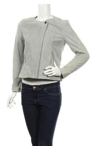 Γυναικείο δερμάτινο μπουφάν Comptoir Des Cotonniers, Μέγεθος M, Χρώμα Γκρί, Φυσικό σουέτ, Τιμή 106,88€