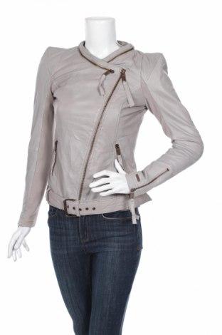 Γυναικείο δερμάτινο μπουφάν Maze, Μέγεθος S, Χρώμα Γκρί, Γνήσιο δέρμα, Τιμή 163,84€
