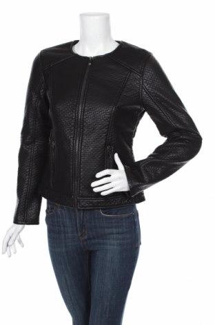 Γυναικείο δερμάτινο μπουφάν Tom Tailor, Μέγεθος M, Χρώμα Μαύρο, Δερματίνη, Τιμή 68,19€