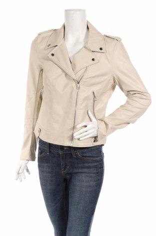 Γυναικείο δερμάτινο μπουφάν Tom Tailor, Μέγεθος L, Χρώμα  Μπέζ, Δερματίνη, Τιμή 46,54€