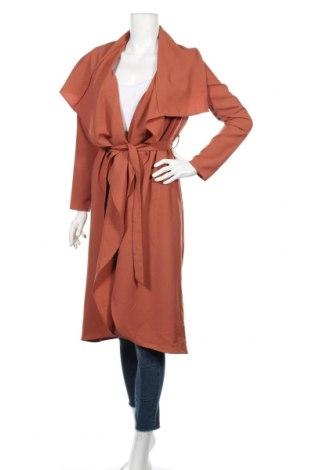 Γυναικείο παλτό Revamped, Μέγεθος S, Χρώμα Καφέ, 97% πολυεστέρας, 3% ελαστάνη, Τιμή 32,08€
