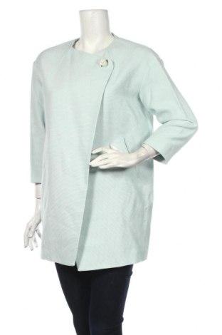 Palton de femei United Colors Of Benetton, Mărime M, Culoare Albastru, 55% bumbac, 35% viscoză, 10% in, Preț 168,63 Lei