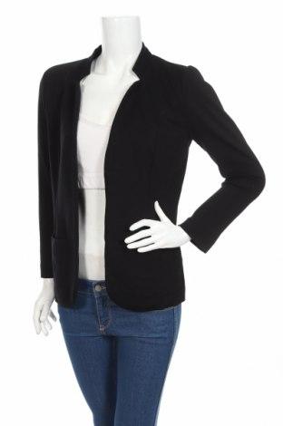 Γυναικείο σακάκι Design By Kappahl, Μέγεθος S, Χρώμα Μαύρο, 69% βισκόζη, 26% πολυαμίδη, 5% ελαστάνη, Τιμή 17,90€