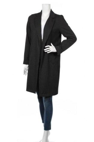 Γυναικείο παλτό Pieces, Μέγεθος S, Χρώμα Μαύρο, 97% πολυεστέρας, 3% ελαστάνη, Τιμή 31,70€