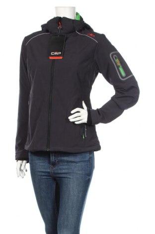 Дамско спортно яке CMP, Размер M, Цвят Син, 96% полиестер, 4% еластан, Цена 56,88лв.