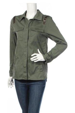 Dámska bunda  H&M Divided, Veľkosť S, Farba Zelená, 98% bavlna, 2% elastan, Cena  20,47€